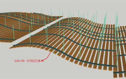 透气铝方通产品图